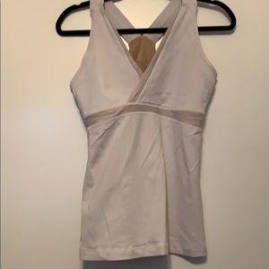 LuluLemon white tank athletic shirt